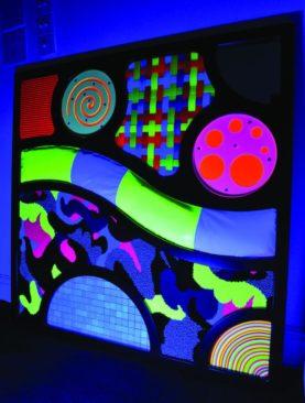 Abstraktní taktilní / dotykový UV panel