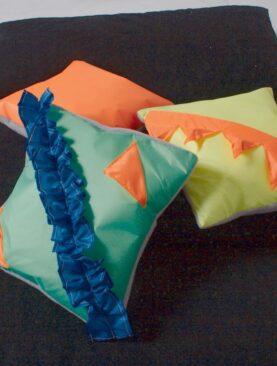 Ozvučené polštářky – Oranžový, Zelený, Žlutý